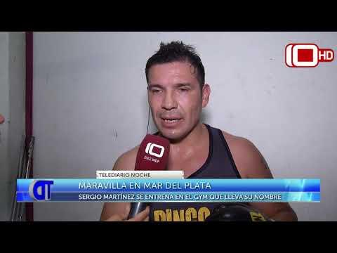 Maravilla Martínez en Mar del Plata: se entrena en el gimnasio que lleva su nombre