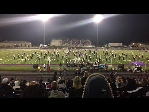 Hiram High School band of gold half time show