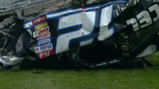 Ryan Newman's 2003 Daytona 500 Crash.  Official Foot...