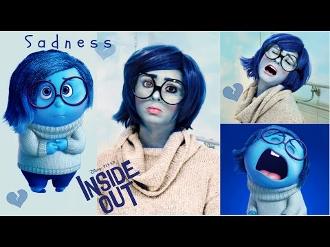 Sadness Tutorial from Inside Out! Makeup, Wig & DIY Costume for Halloween