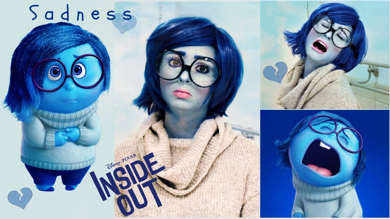 Halloween Costumes Wigs | Sadness Tutorial From Inside Out Makeup Wig Diy Costume For