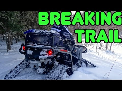 Outlander Grizzly & Mudpro ATV's Track Into Cubbee Falls Through Deep Snow