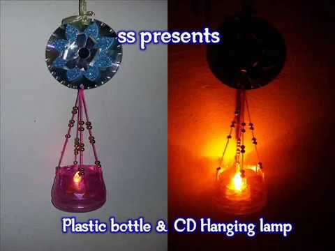 Plastic Bottle CD Hanging Lamp For Any Occasion Diwali Decorations Idea At Home