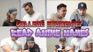 ANIME VS COLLEGE STUDENTS