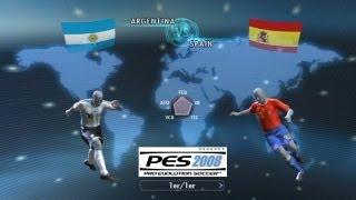 PES 2008 - Argentina vs España (Recordando viejos tiempos)