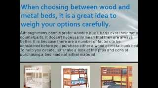 Bunk Beds For Sale: Which One Do You Prefer Wood Or Metal?