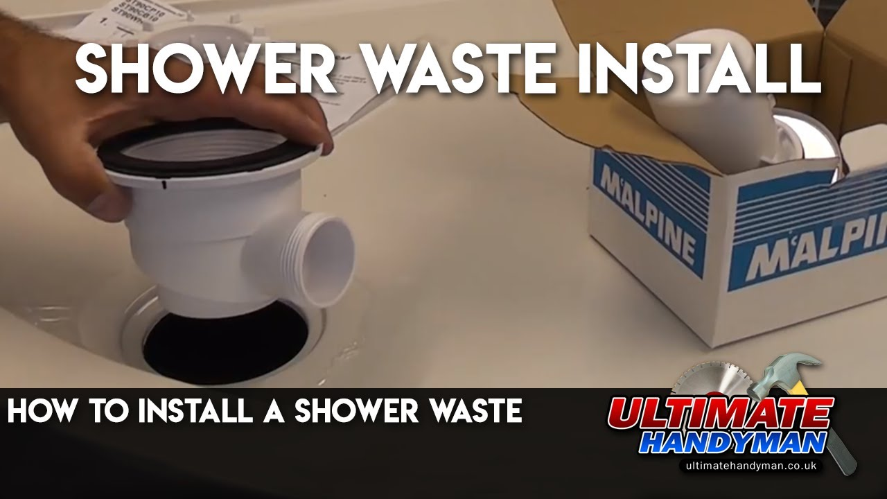 How To Install A Shower Waste   YouTube