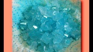 Голубой кристалл в домашних условиях! РЕЗУЛЬТАТ!(Как вырастить голубые кристаллы своими руками? Как вырастить цветной кристалл своими руками, ЛЕГКО! https://www.y..., 2016-06-02T16:22:26.000Z)