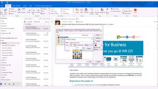 How to set color category to your mails in Outlook 2016?