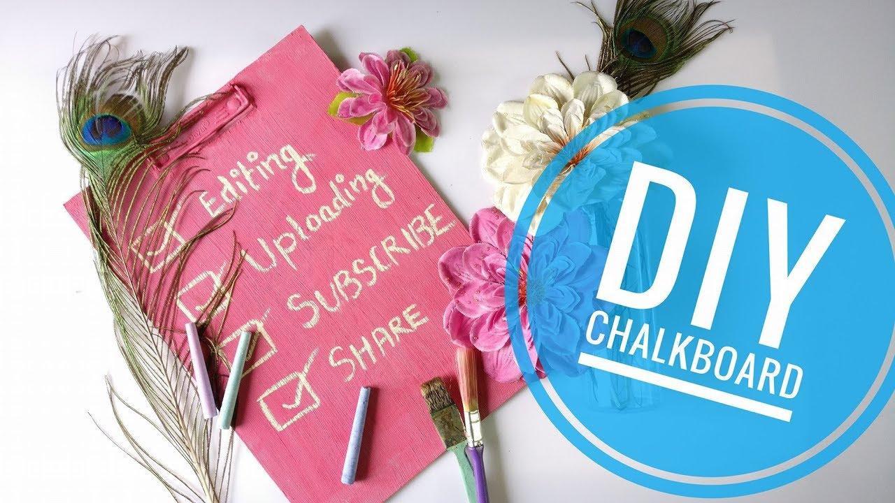 DIY: Back To School | How to make Chalkboard | Easy way ...