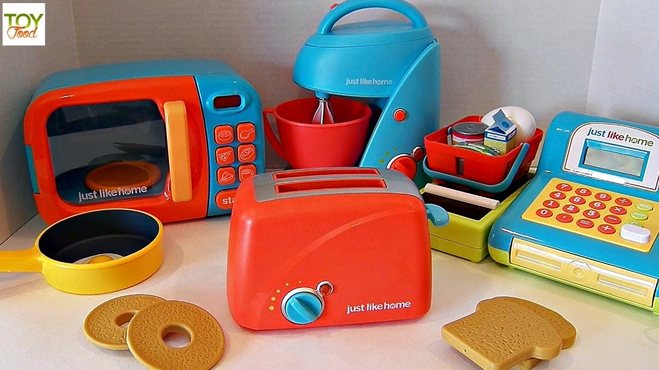 TOY TOASTER, KITCHEN APPLIANCES, TOY FOOD, PLAY DOH, JUST LIKE HOME ...