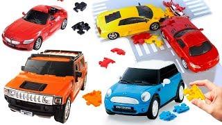 Машинки модели 3D пазлы
