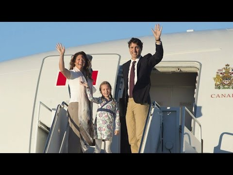 Justin Trudeau departs for China