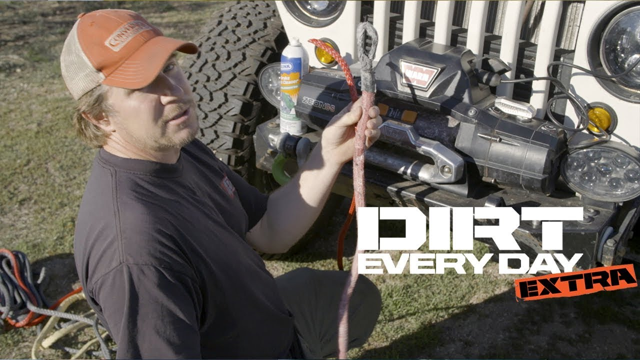 how to install a bubba rope synthetic winch rope on a warn winch dirt every day extra [ 1280 x 720 Pixel ]