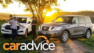 2016 Toyota LandCruiser 200 GX v 2016 Nissan Patrol Ti Comparison Review