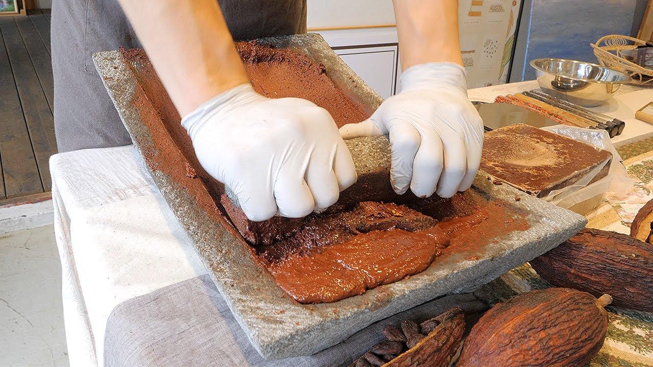 마야 전통방식으로 만드는 100% 카카오 초콜릿 & 초콜릿 티 / korean street food