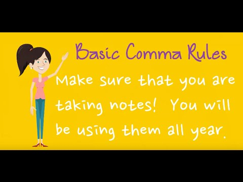 Help your middle and high school students understand basic comma ...
