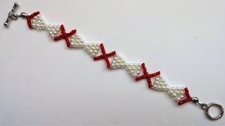 Simple beaded bracelet tutorial .Bow bracelet making