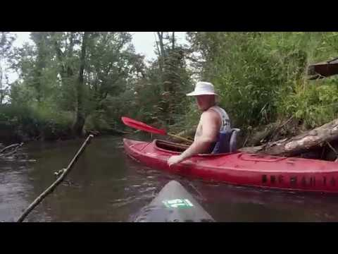 Southwestern Michigan College Students Kayaking the Dowagiac River