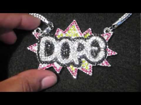 Dope Pendant + Necklace Chain Chris Brown Big Sean hip hop inspired | hip hop jewelry