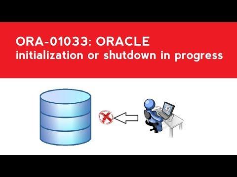 ORA-01033: ORACLE initialization or shutdown in progress
