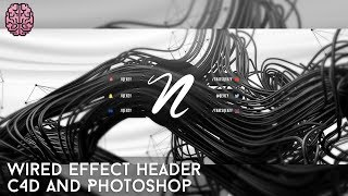 Tutorial: Wired Effect Header | C4D + Photoshop by Qehzy
