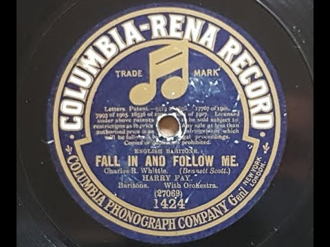Harry Fay 'Fall In And Follow Me' 1910 Acoustic 78 rpm mp3