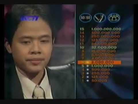 Who Wants to be a Millionaire - Indonesia - 5 Juni 2004 - fragment part 1 from YouTube · Duration:  10 minutes 48 seconds