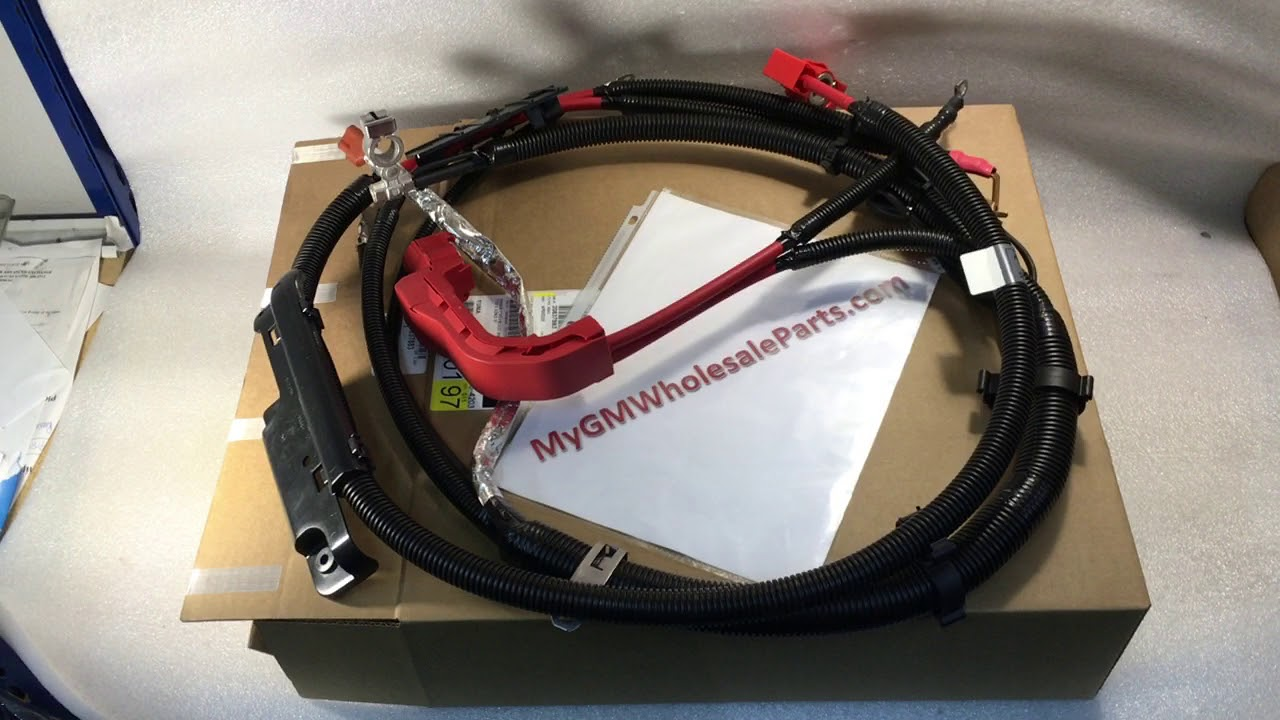 replacement oem duramax diesel positive battery cable gm 20837883  [ 1280 x 720 Pixel ]