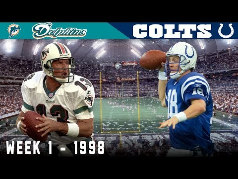 Peyton Manning's FIRST Game! (Dolphins Vs. Colts, 1998)   NFL Classic Game Highlights