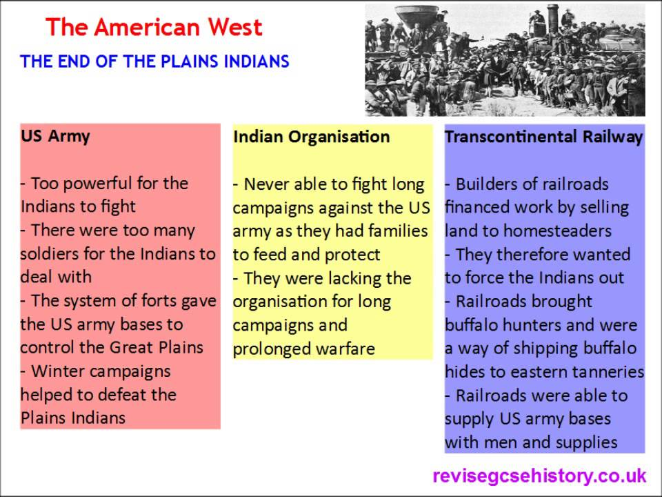 the plains indians conclusion Similarities and differences between african and native americans history essay  such as the great plains indians, lost their only means of sustenance when white.