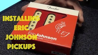 Pickup Change Fender American Standard Stratocaster : Eric Johnson Pickups Installation bye Fat 50's