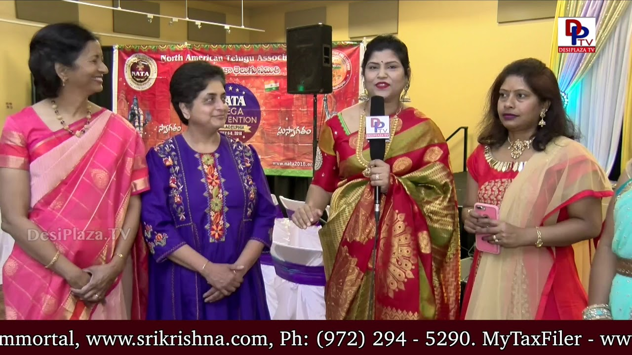 Prasanthi Ballada thanking the guest speakers at NATA Austin International Womens Day || DesiplazaTV