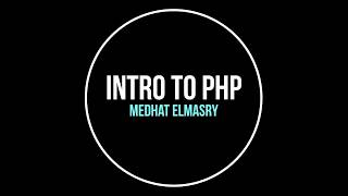 Introduction to PHP Part 1