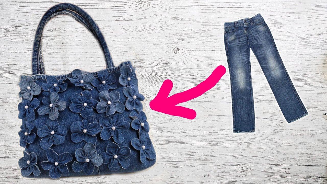 Сумка из старых джинсов своими руками. Как сшить сумку ...