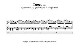 Organ: Toccata from Symphonie No.5 (Abridged & Simplified) - Charles-Marie Widor