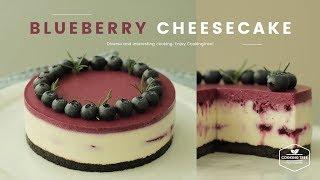 노오븐✨블루베리 치즈케이크 만들기 : No-Bake Blueberry cheesecake Recipe - Cooking tree 쿠킹트리*Cooking ASMR thumbnail