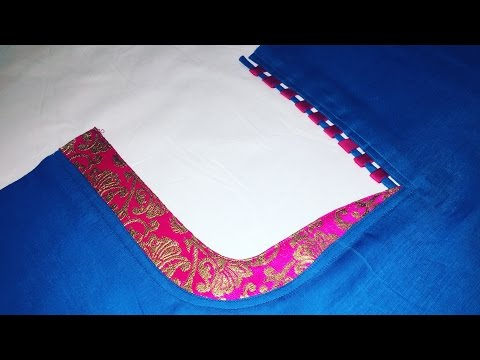 Kameez Front Neck Design cutting and stitching