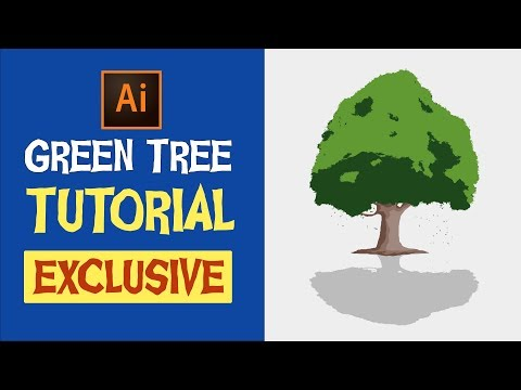 How To Create A Tree In Illustrator New Way + No Pen Tool.