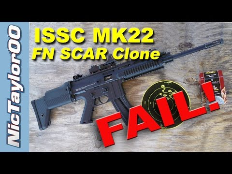 22LR FNH SCAR Clone (ISSC MK22 Rifle) - REVIEW