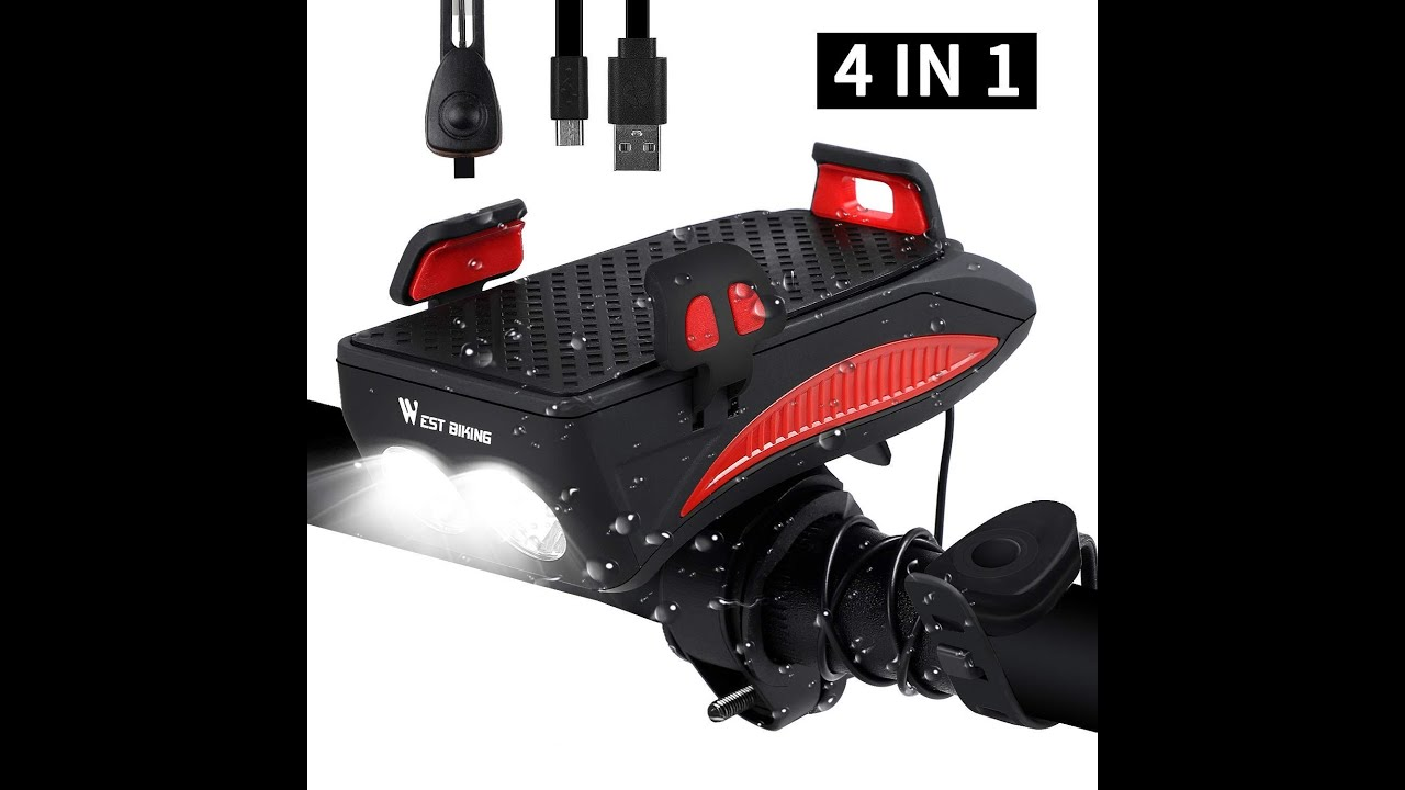 World most powerful amazing all in one Lista cycle accessories horn mobile holder headlight