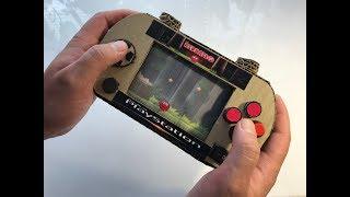 Red Ball . Cardboard game. Sony PSP .DIY