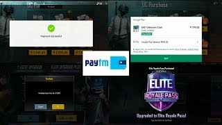 How to buy pubg mobile Royal elite pass by paytm money, first time royal elite pass