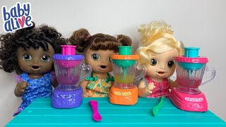New Baby Alive Magical Mixer Lunch Routine