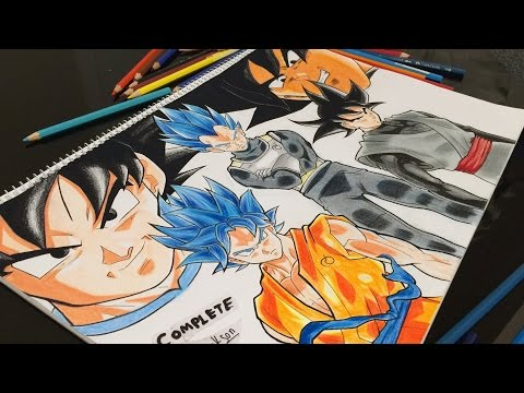 Black Goku vs Goku SSJGSSJ - giant project! How Do I Draw