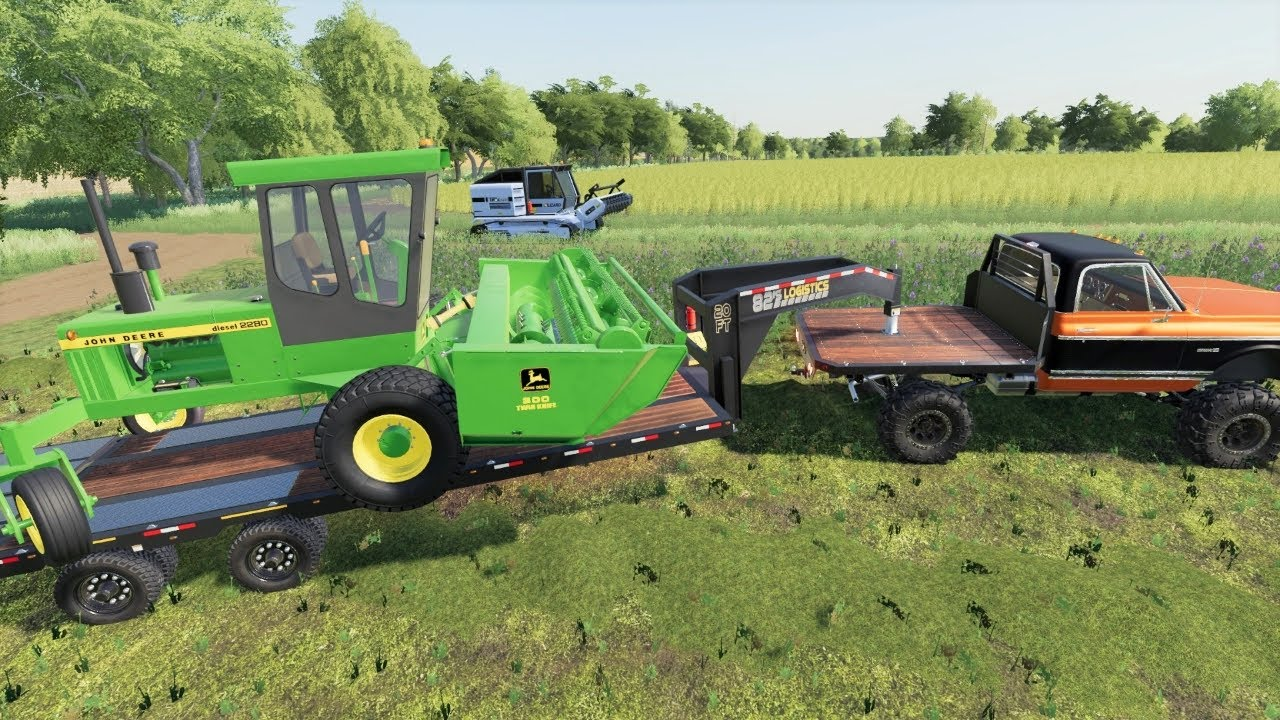 Harvesting a brand new crop and building on the farm   Back in my day s2 ep10   Farming Simulator 19