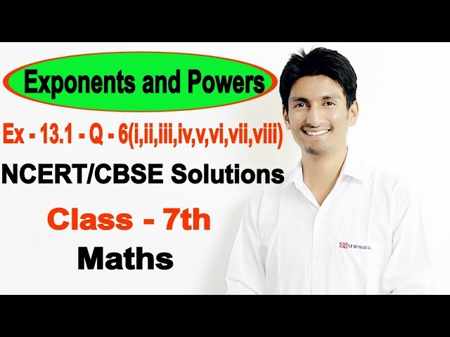 Chapter 13 Exercise 13.1 Question 6 - Exponents and Powers Class 7 Maths - NCERT Solutions