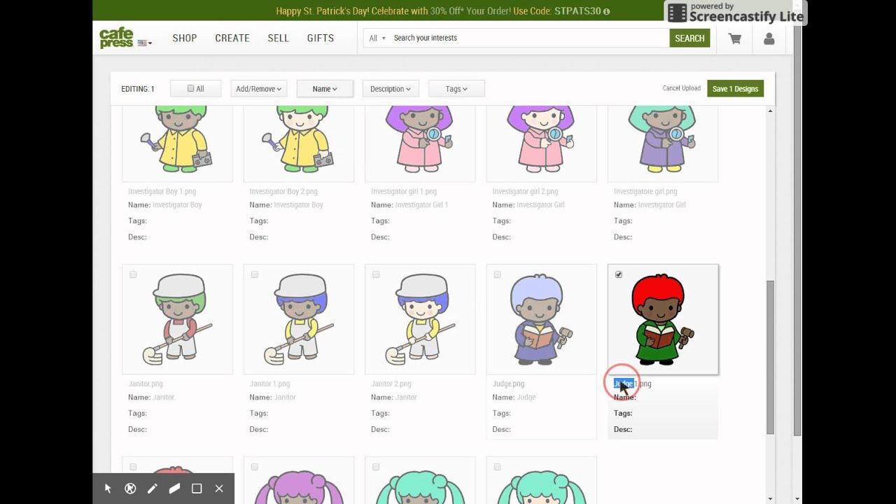 Design your own t-shirt cafepress - Cafepress Adding Images To Image Basket