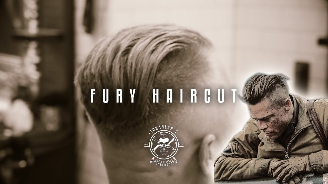 Brad Pitt Fury Haircutundercut Hairstyleturanlars Barbershop