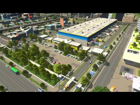 Cities Skylines. Fully Functioning Logistics Centre